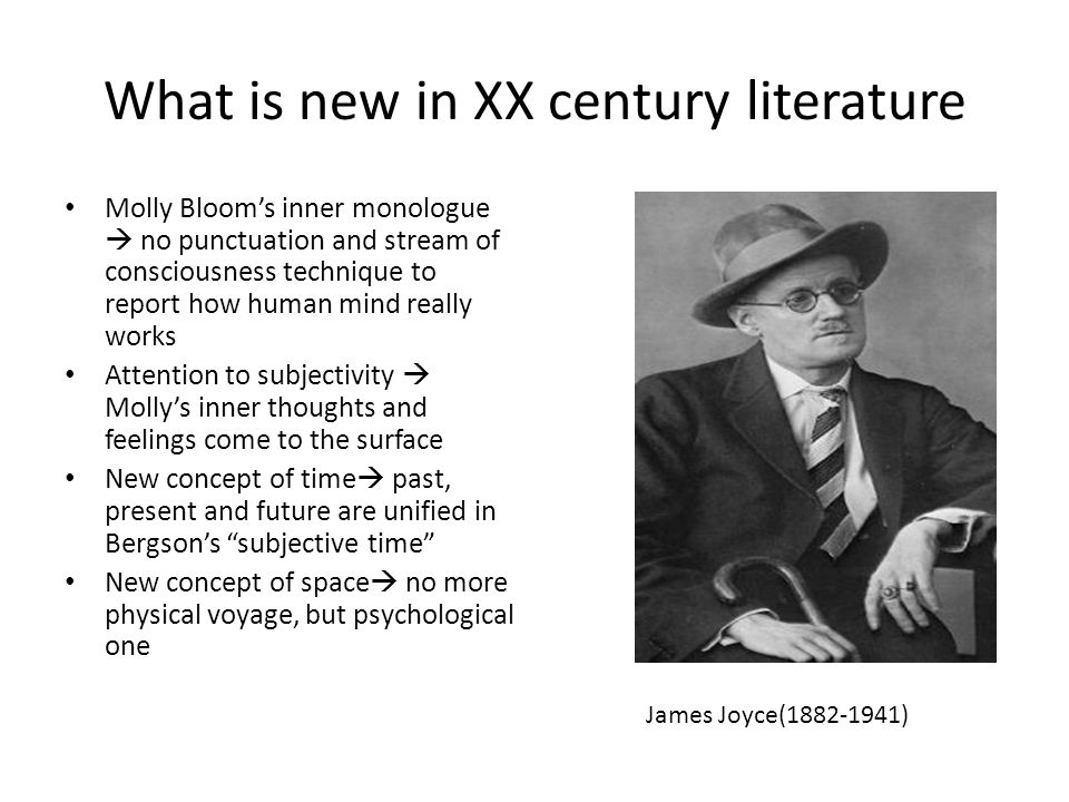 What is new in XX century literature