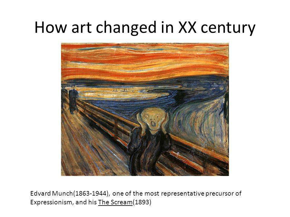 How art changed in XX century