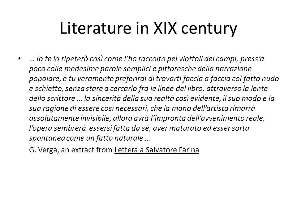 Literature in XIX century