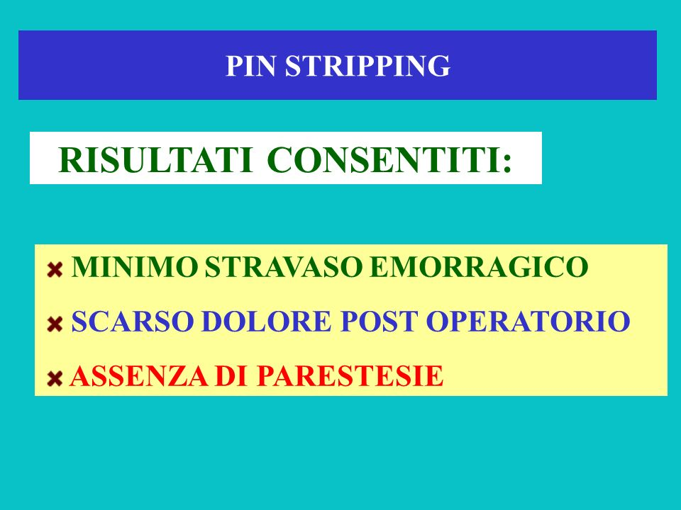 Pin Stripping ed uncino di Oesch