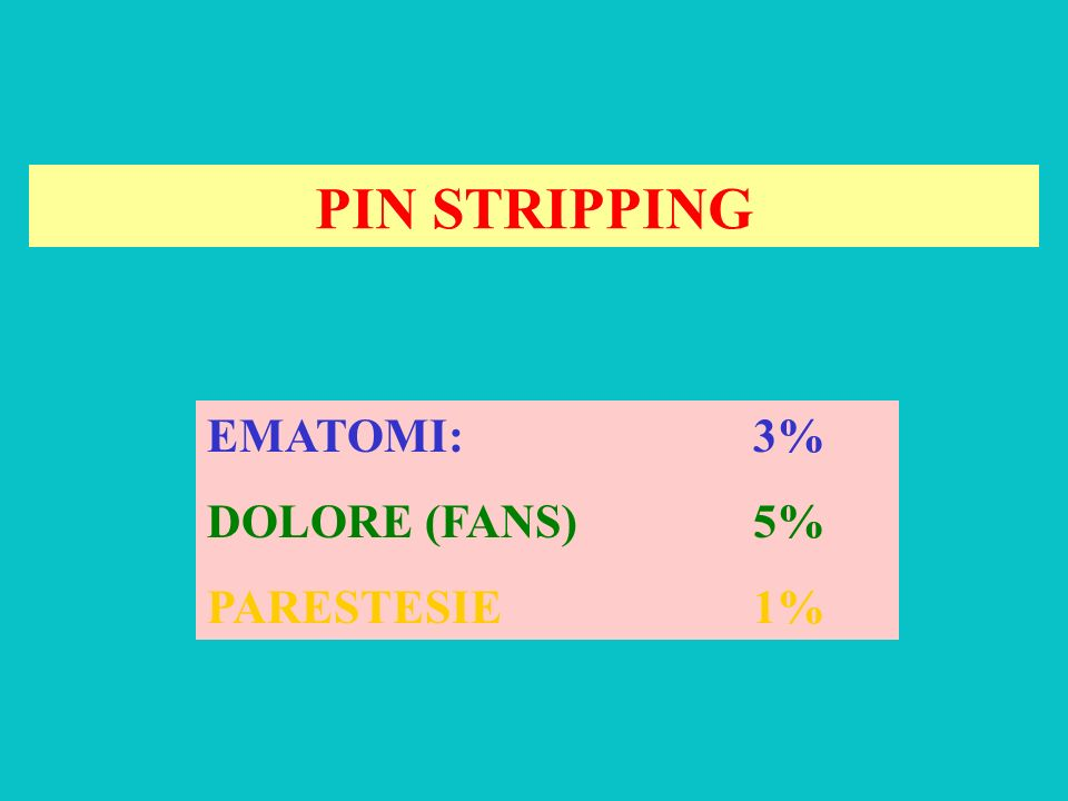 Pin Stripping ed uncino di Oesch