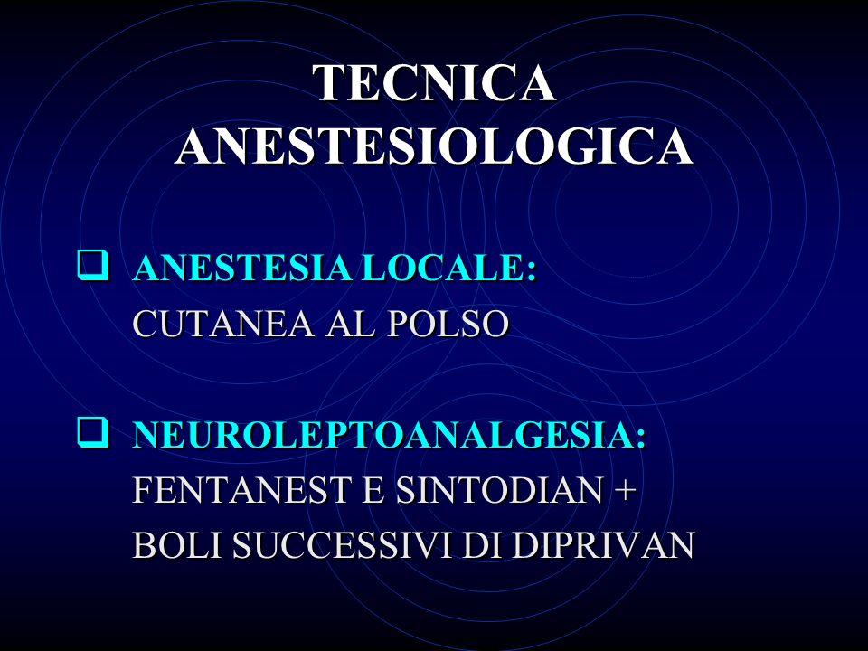 TECNICA ANESTESIOLOGICA
