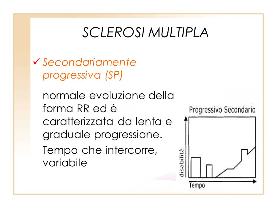 SCLEROSI MULTIPLA Secondariamente progressiva (SP)
