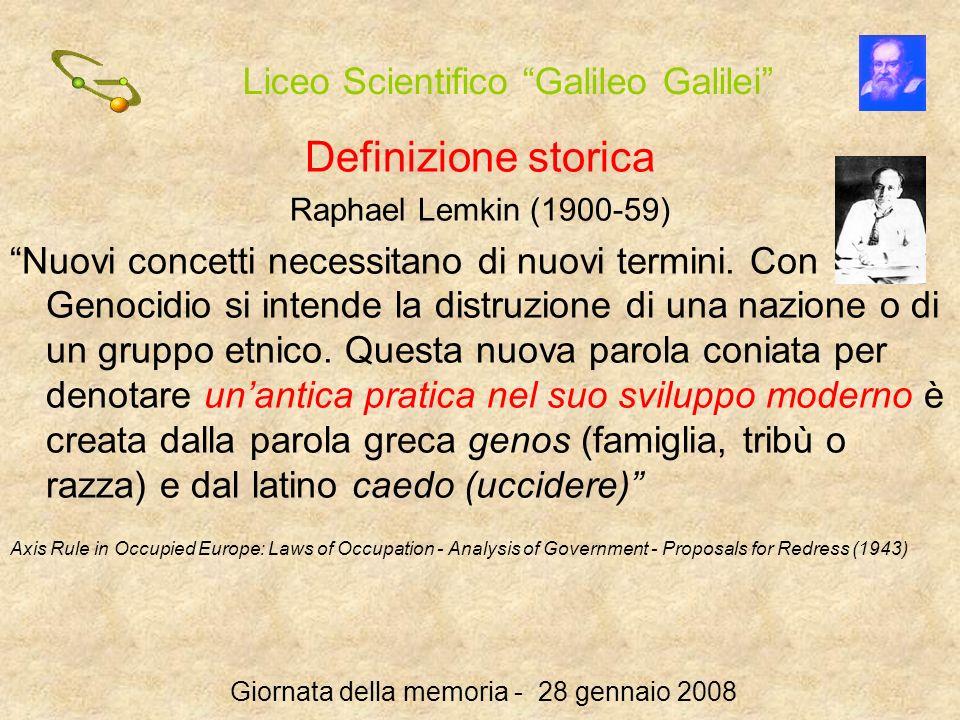 Definizione storica Raphael Lemkin (1900-59)