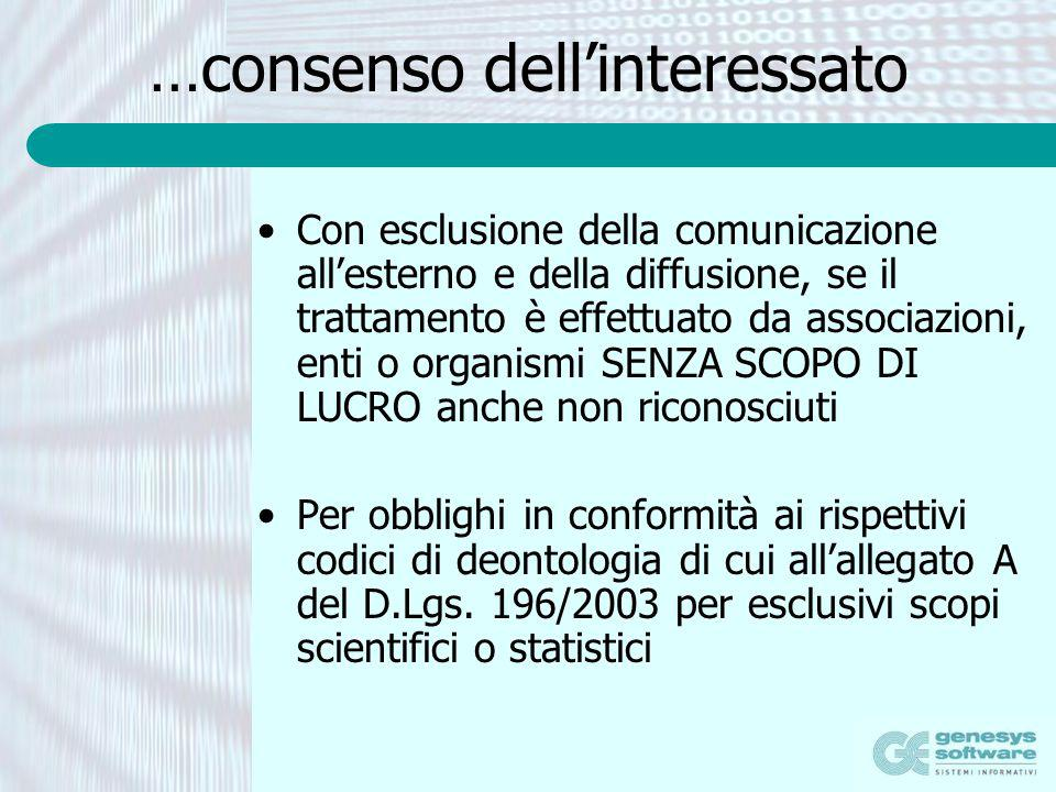 …consenso dell'interessato
