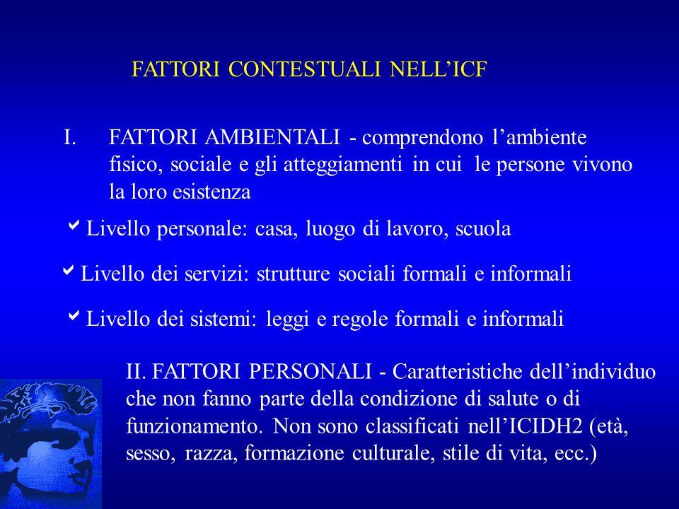FATTORI CONTESTUALI NELL'ICF