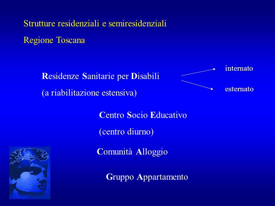Strutture residenziali e semiresidenziali Regione Toscana