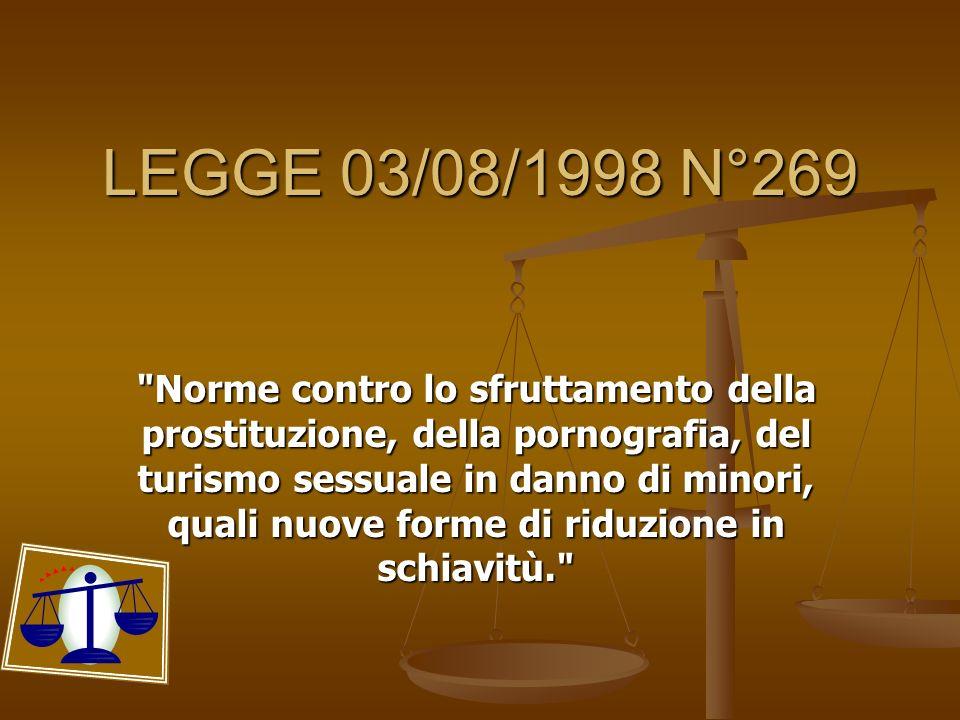 LEGGE 03/08/1998 N°269