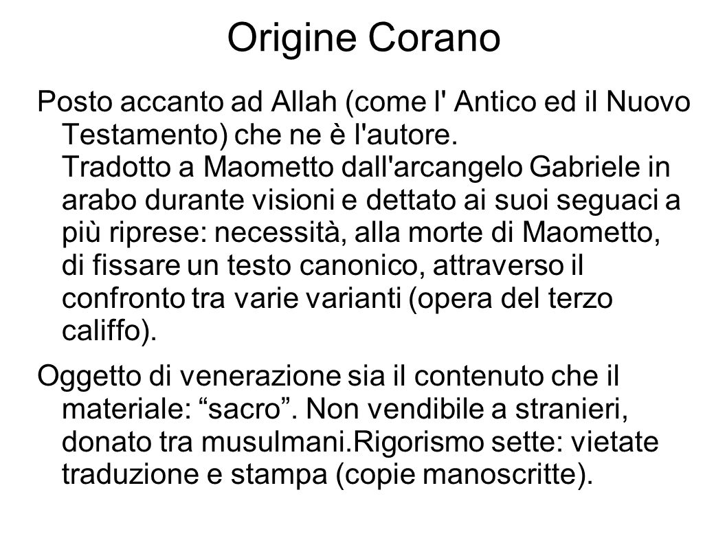 Origine Corano