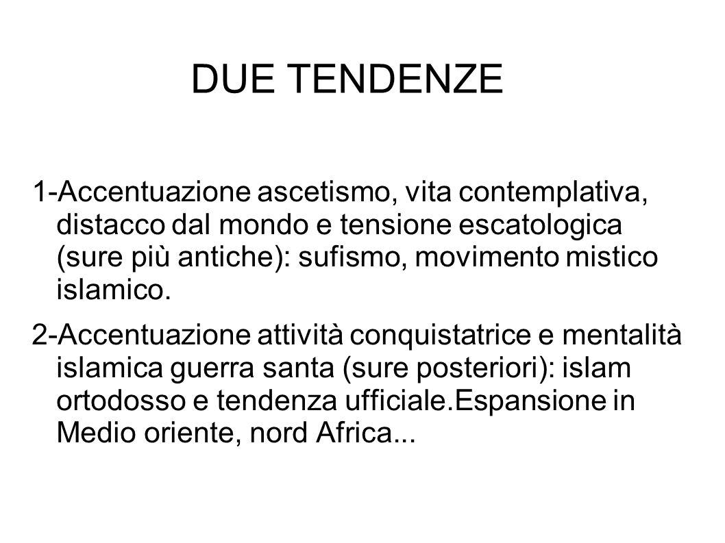 DUE TENDENZE