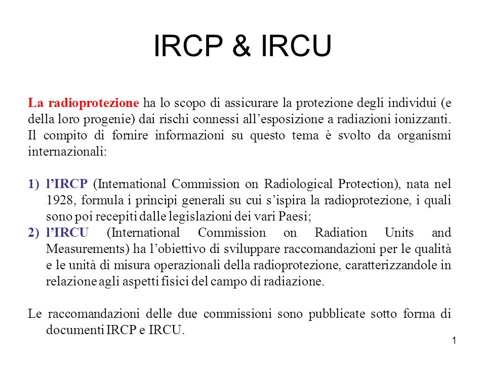 IRCP & IRCU