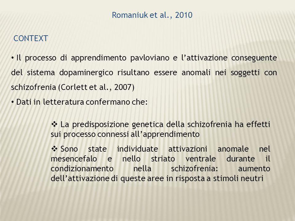 Romaniuk et al., 2010 CONTEXT.