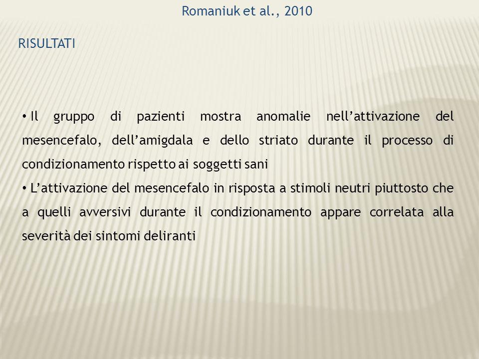 Romaniuk et al., 2010 RISULTATI.
