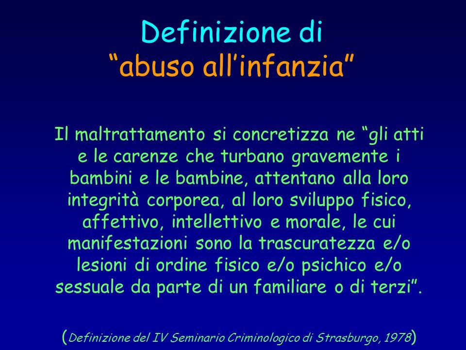 Definizione di abuso all'infanzia