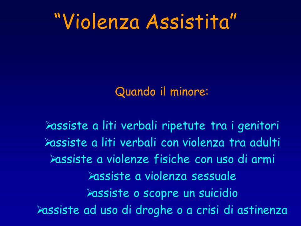 Violenza Assistita Quando il minore:
