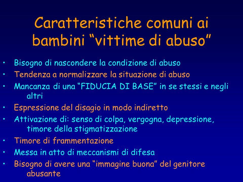 Caratteristiche comuni ai bambini vittime di abuso