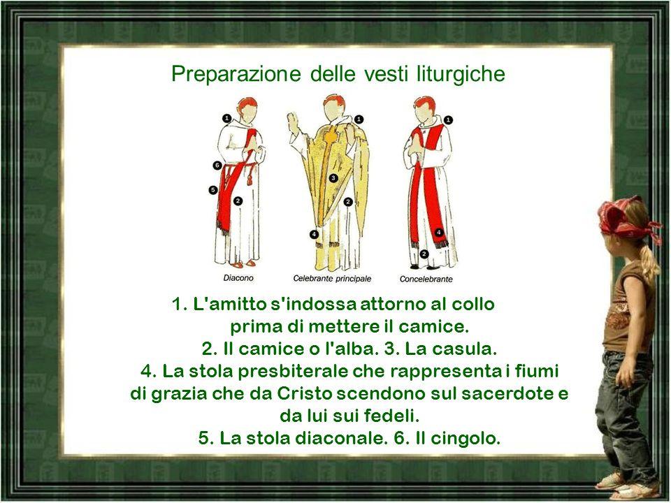 Preparazione delle vesti liturgiche