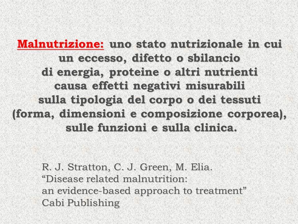 Malnutrizione: uno stato nutrizionale in cui