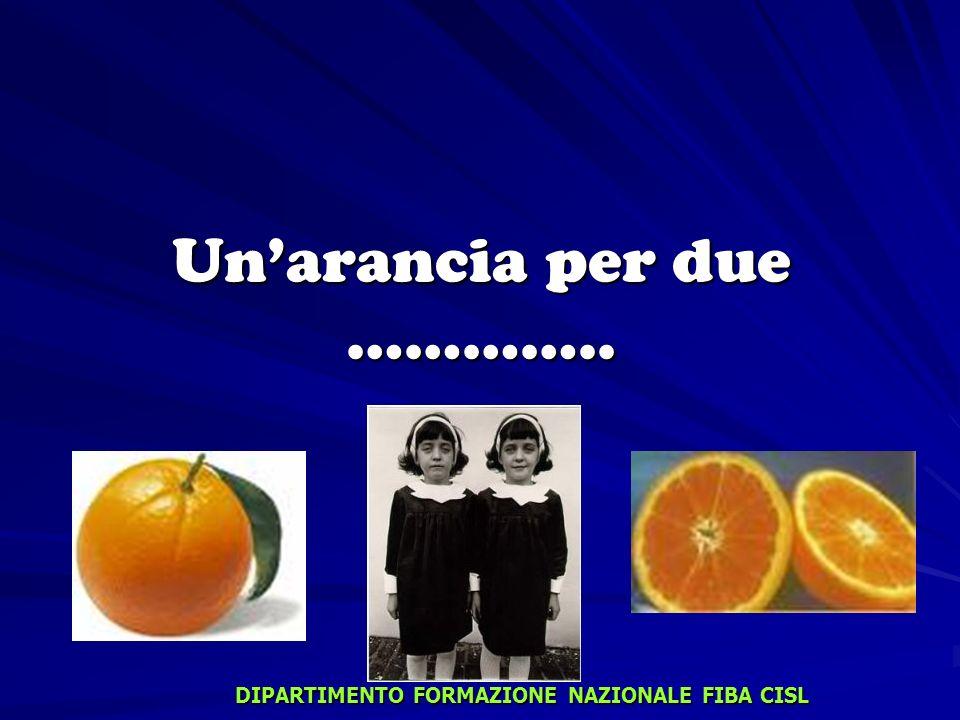 Un'arancia per due …………..