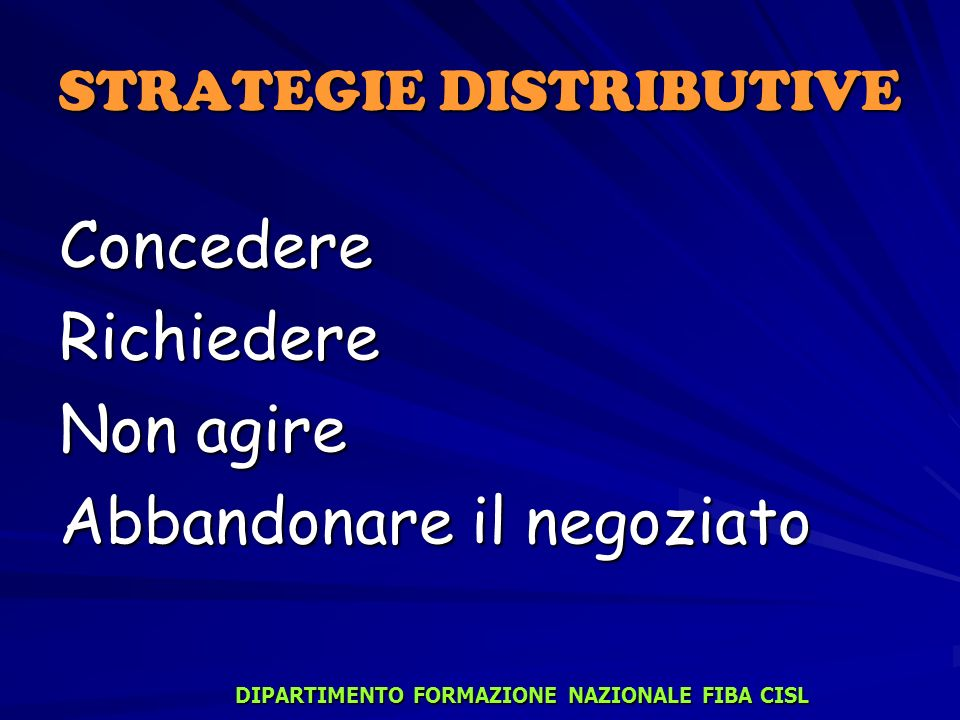 STRATEGIE DISTRIBUTIVE