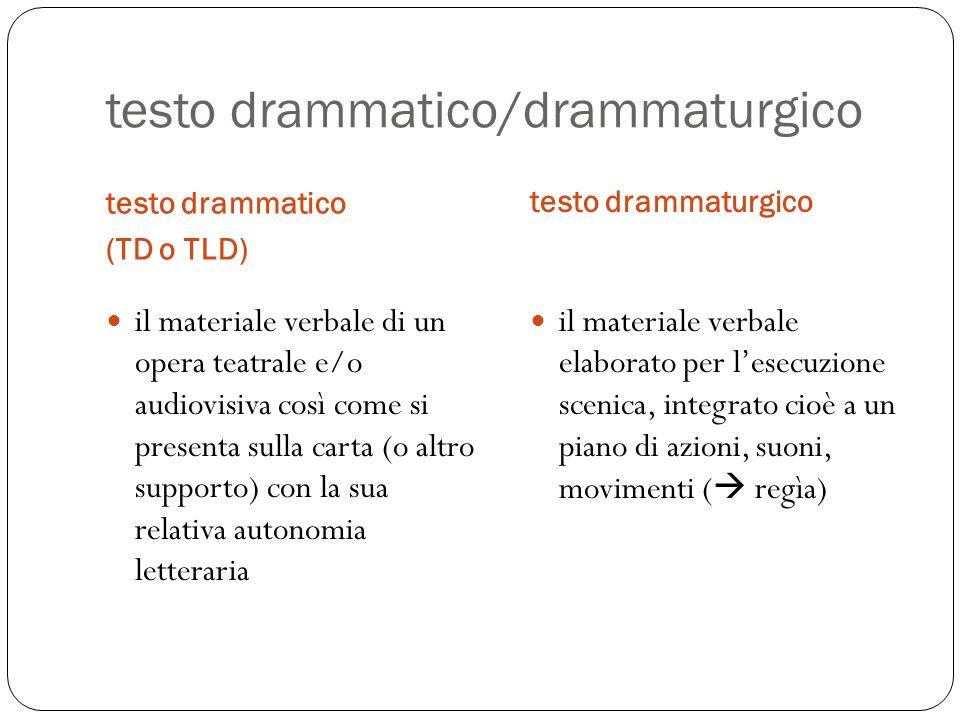 testo drammatico/drammaturgico