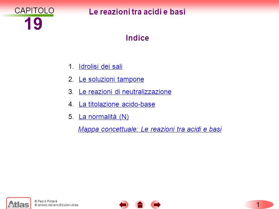 Le reazioni tra acidi e basi
