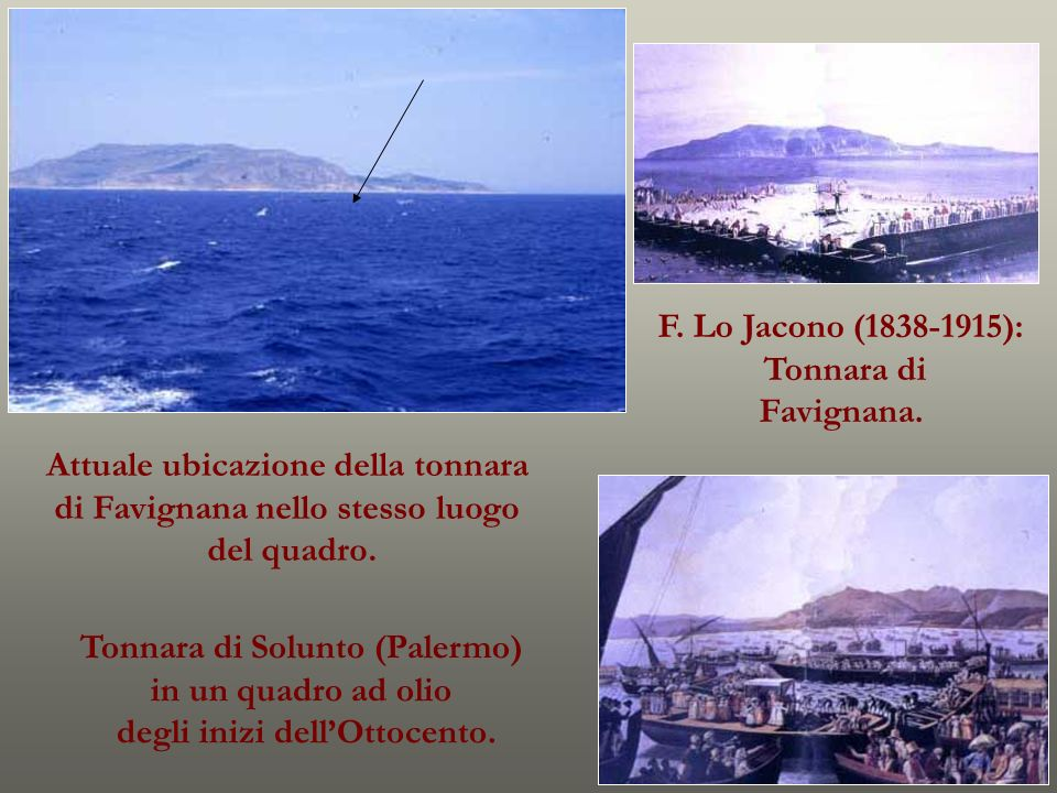 Attuale ubicazione della tonnara di Favignana nello stesso luogo