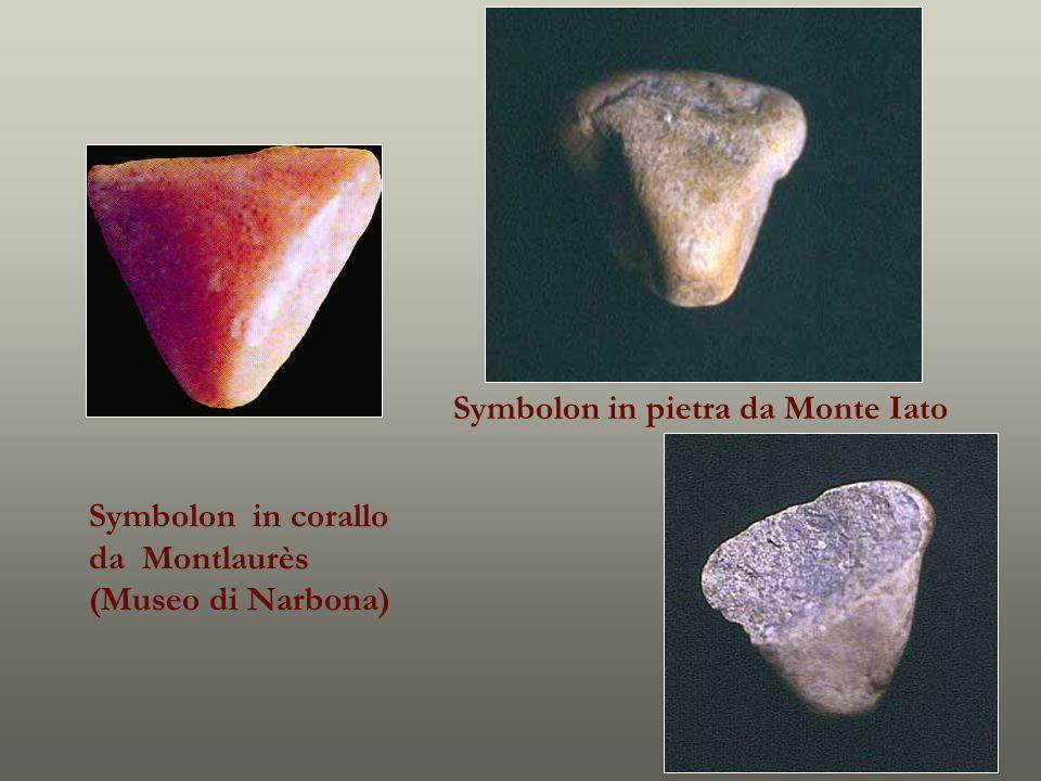 Symbolon in pietra da Monte Iato