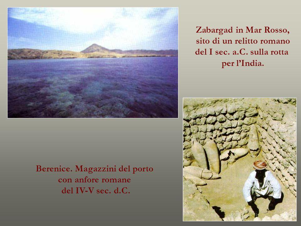sito di un relitto romano Berenice. Magazzini del porto
