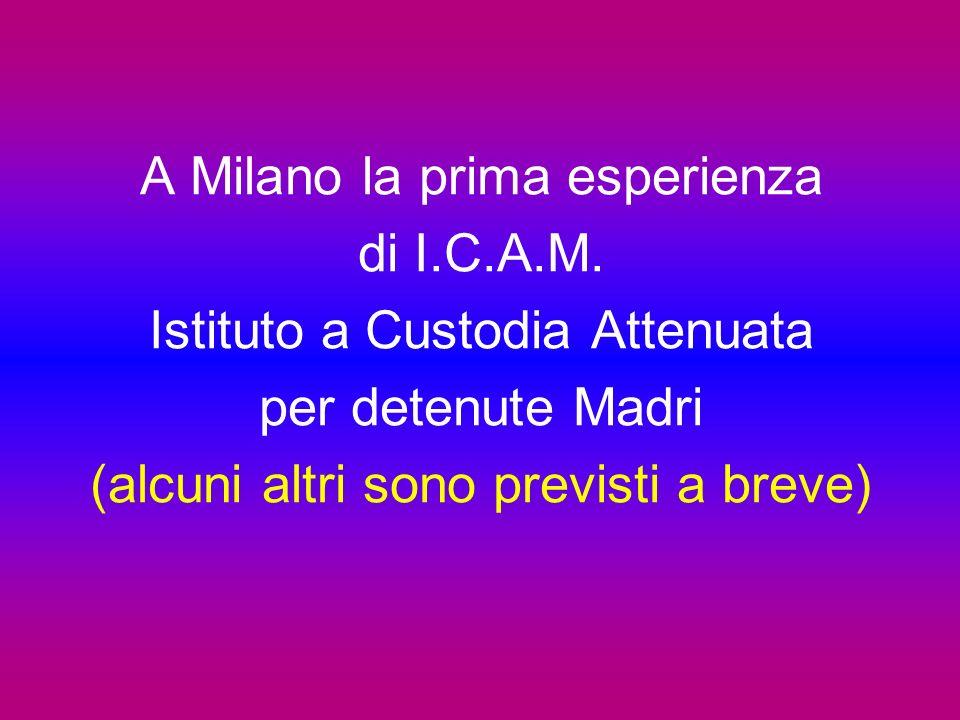 A Milano la prima esperienza di I.C.A.M. Istituto a Custodia Attenuata