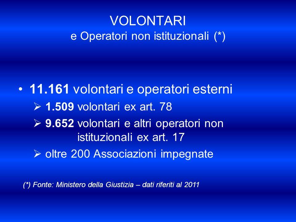 VOLONTARI e Operatori non istituzionali (*)