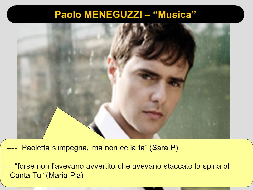 Paolo MENEGUZZI – Musica