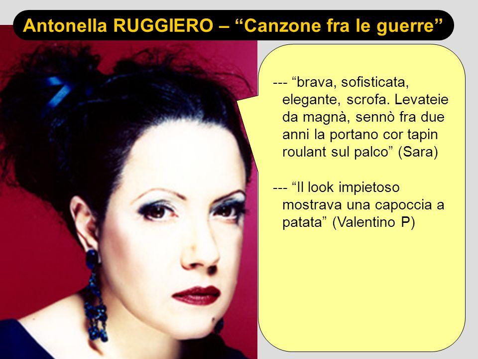 Antonella RUGGIERO – Canzone fra le guerre