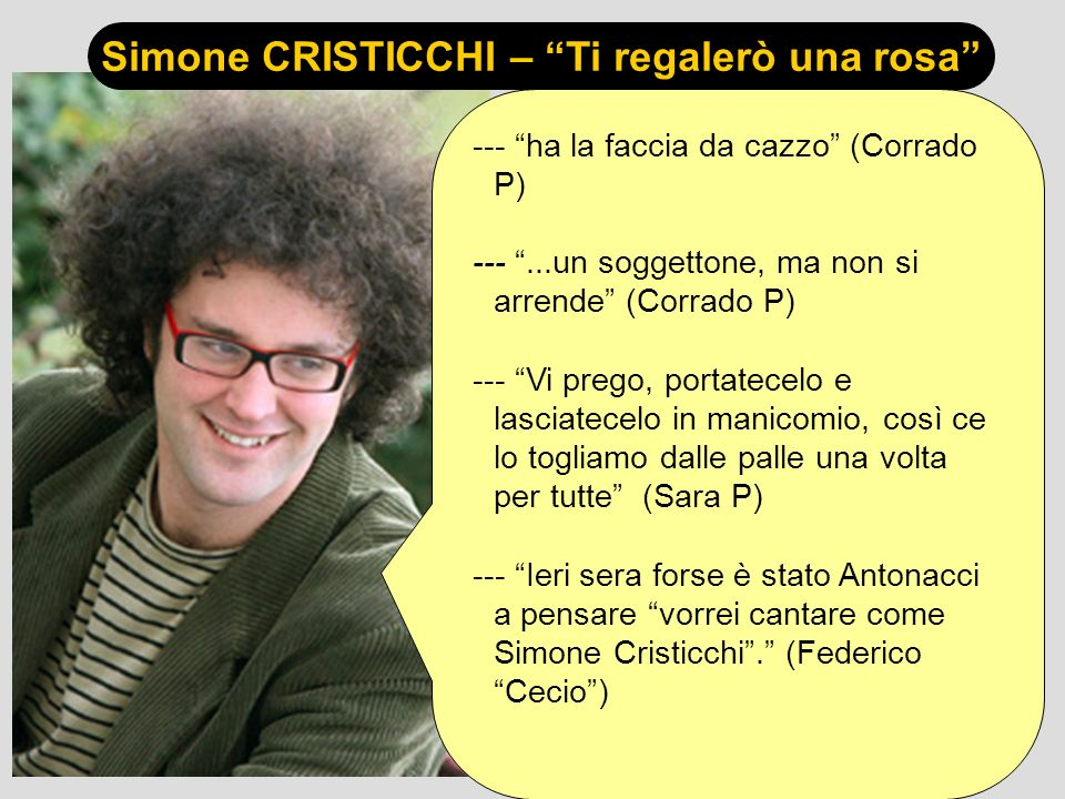Simone CRISTICCHI – Ti regalerò una rosa