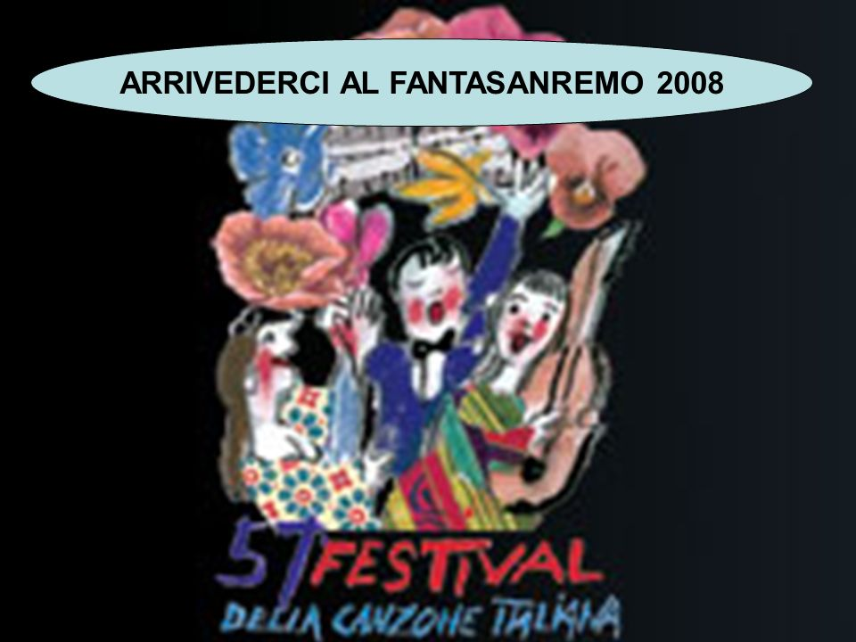 ARRIVEDERCI AL FANTASANREMO 2008