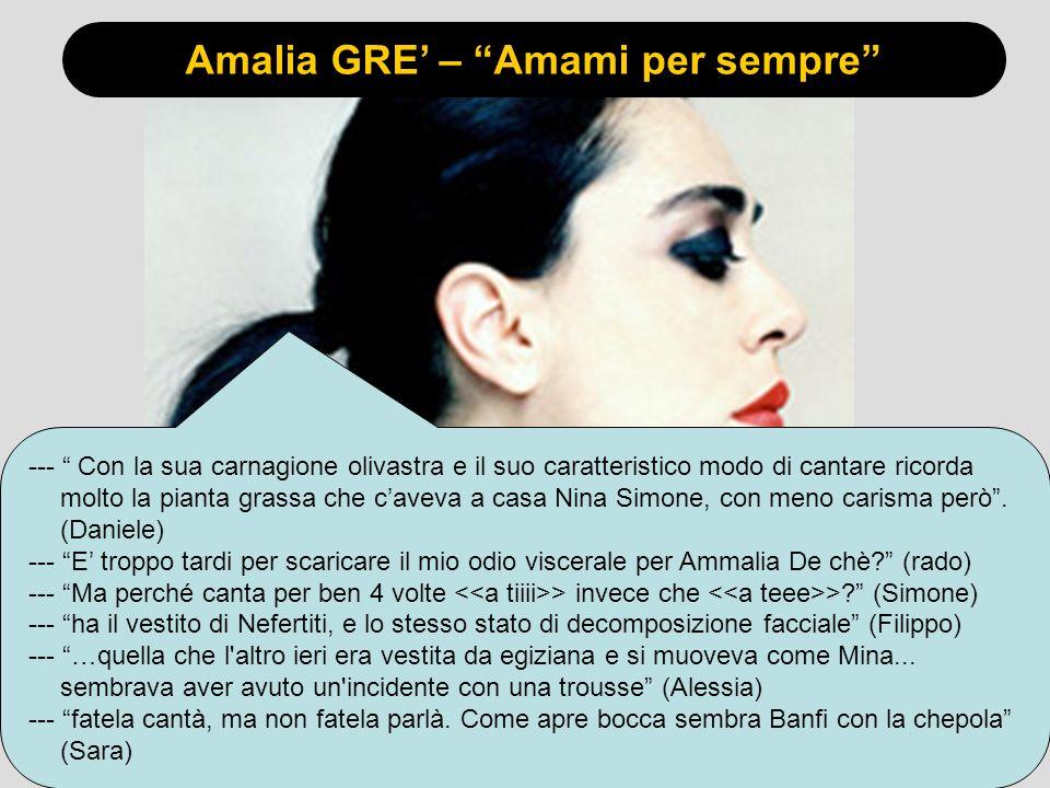 Amalia GRE' – Amami per sempre