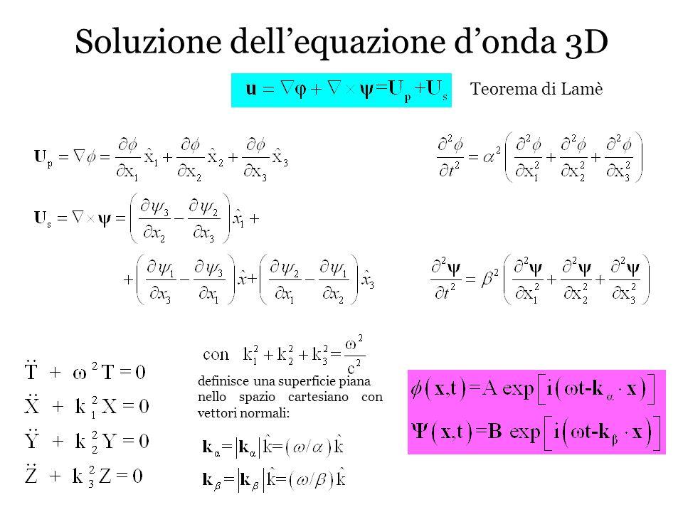 Soluzione dell'equazione d'onda 3D