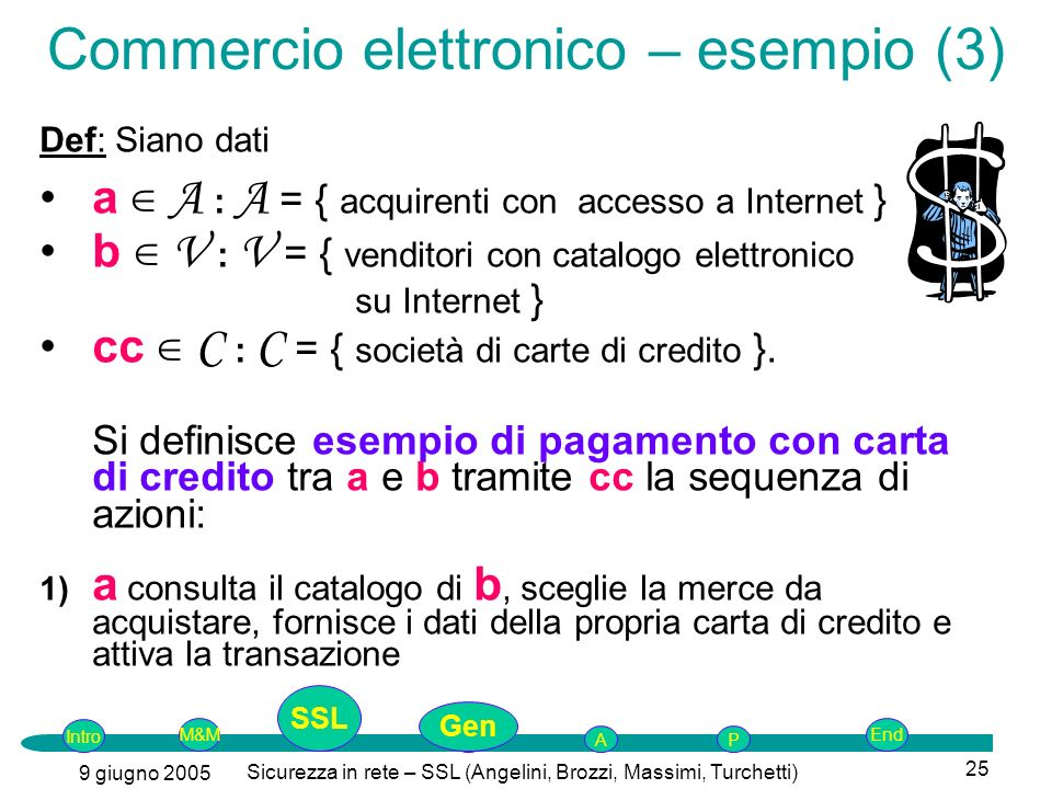 Commercio elettronico – esempio (3)
