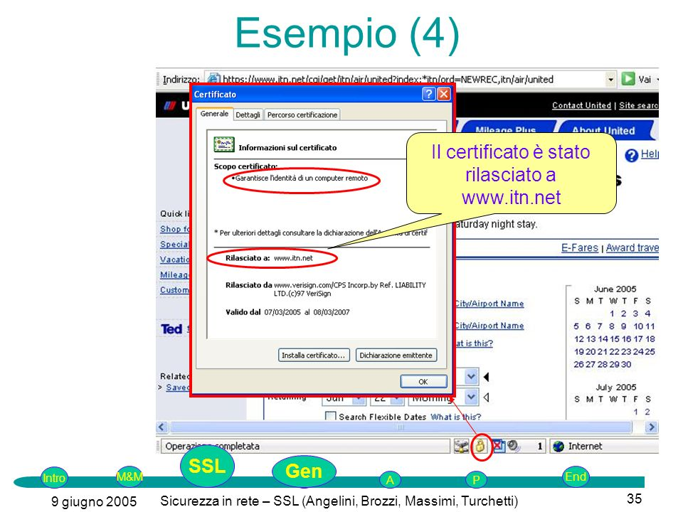 Esempio (4) Il certificato è stato rilasciato a www.itn.net SSL Gen