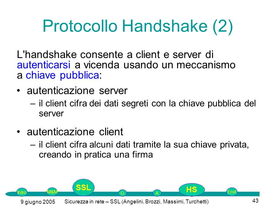 Protocollo Handshake (2)