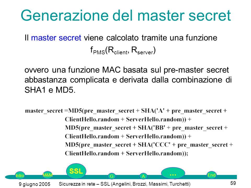 Generazione del master secret