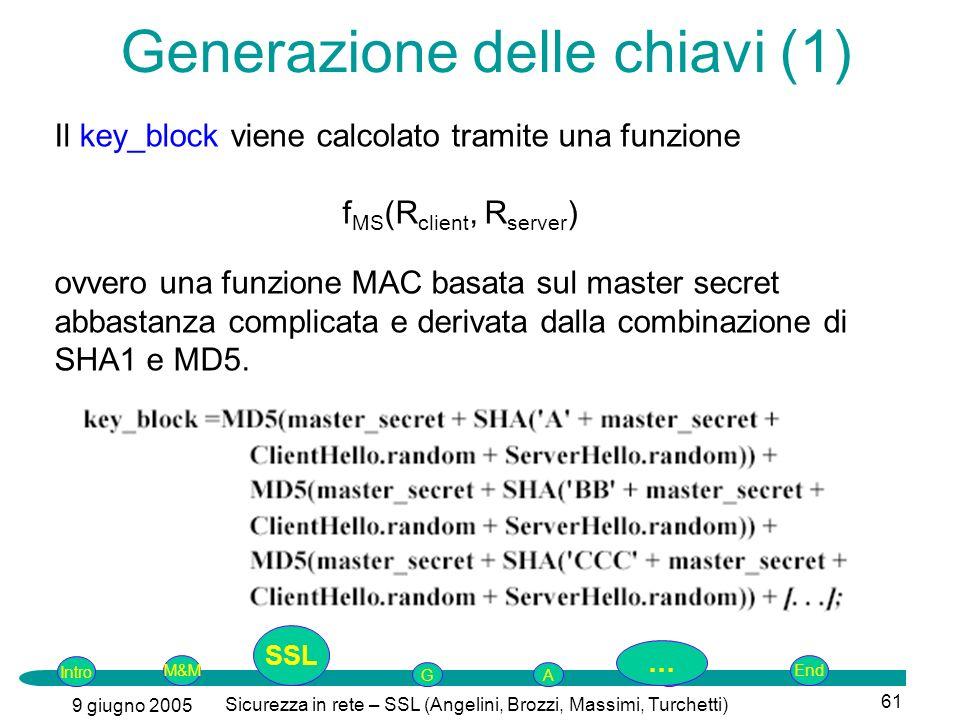Generazione delle chiavi (1)
