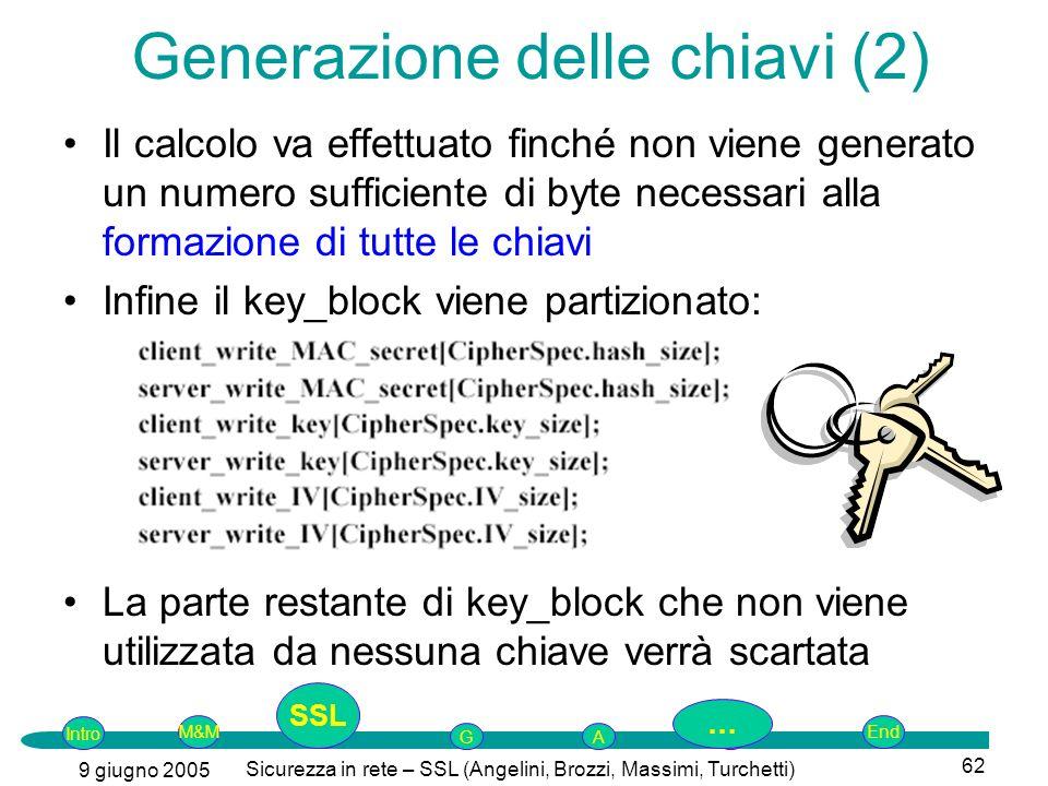 Generazione delle chiavi (2)