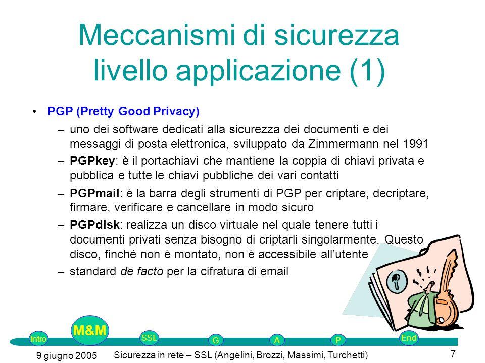 Meccanismi di sicurezza livello applicazione (1)