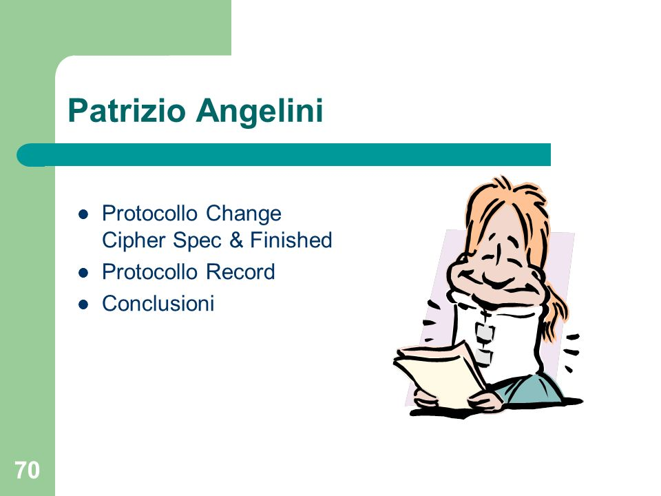 Patrizio Angelini Protocollo Change Cipher Spec & Finished