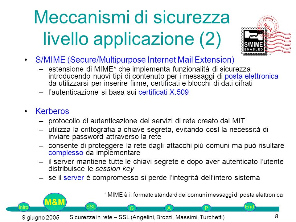 Meccanismi di sicurezza livello applicazione (2)