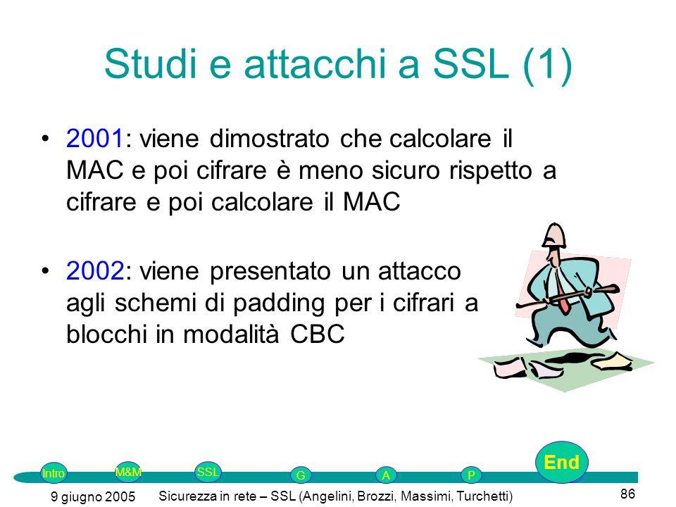 Studi e attacchi a SSL (1)