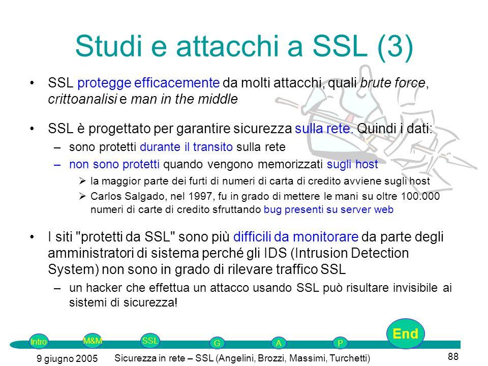 Studi e attacchi a SSL (3)