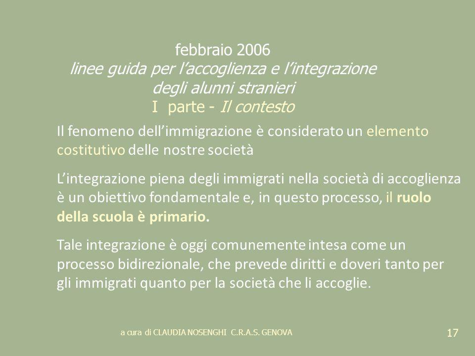 febbraio 2006 linee guida per l'accoglienza e l'integrazione degli alunni stranieri