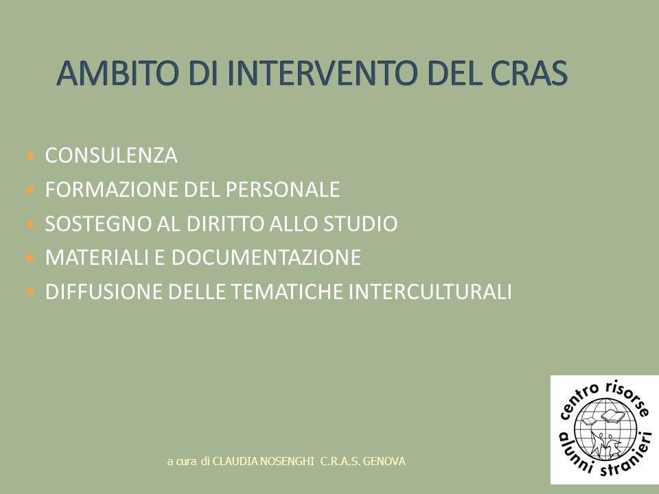 AMBITO DI INTERVENTO DEL CRAS
